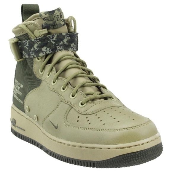 0ceee05f Nike Shoes | Sf Air Force 1 Mid Mushroom Green Olive Camo | Poshmark